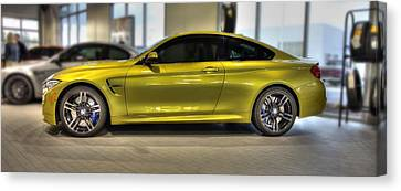 Canvas Print featuring the photograph 2015 Bmw M4 by Aaron Berg