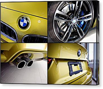 Canvas Print featuring the photograph 2015 Bmw M4 Collage  by Aaron Berg
