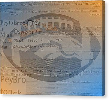 2015 Denver Broncos Players Canvas Print by Dan Sproul