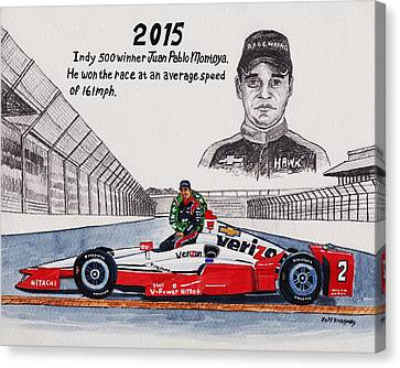 2015 Indy 500 Winner Canvas Print