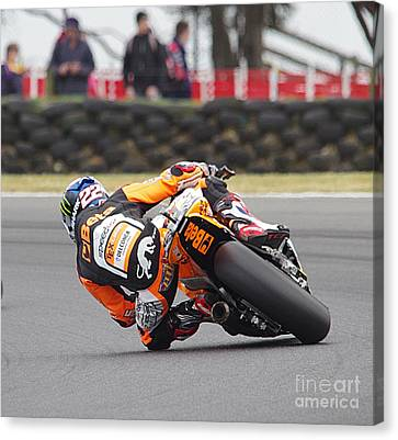 2015 Moto Grand Prix Canvas Print by Blair Stuart