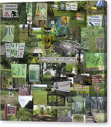 2015 Pdga Amateur Disc Golf World Championships Photo Collage Canvas Print