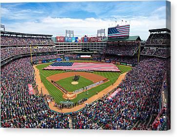 2015 Texas Rangers Home Opener Canvas Print