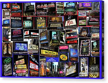 2016 Broadway Spring Collage Canvas Print by Steven Spak