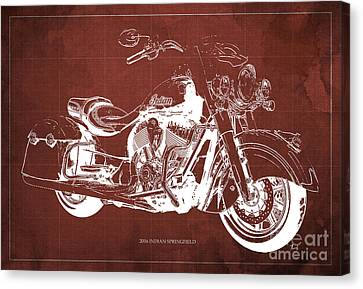 2016 Indian Blueprint Canvas Print by Pablo Franchi