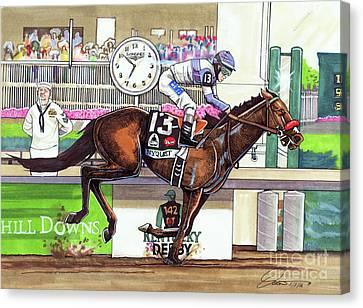 2016 Kentucky Derby Winner Nyquist Canvas Print by Dave Olsen