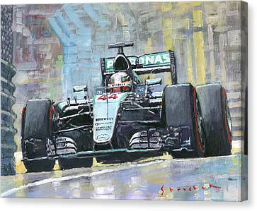 2016 Monaco Gp Mercedes Amg Petronas Hamilton  Canvas Print by Yuriy Shevchuk