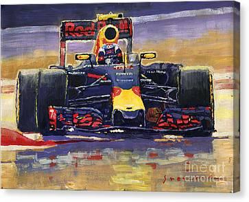 2016 Spain Gp Max Verstappen Red Bull-renault Winner Canvas Print