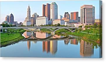 2017 Columbus Daylight Pano Canvas Print