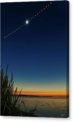 2017 Great American Eclipse Canvas Print