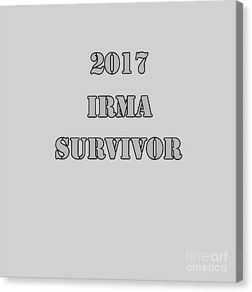 2017 Irma Survivor Canvas Print by Judy Hall-Folde
