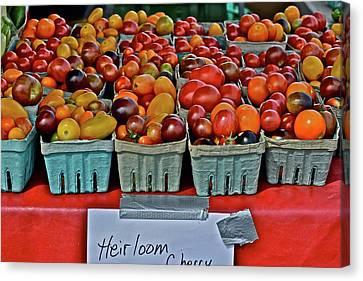 2017 Monona Farmers' Market August Heirloom Cherry Tomatoes Canvas Print