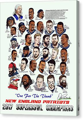2017 New England Patriots Superbowl Champs Canvas Print by Dave Olsen