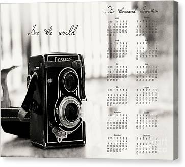 Canvas Print featuring the photograph 2017 See The World Wall Calendar by Ivy Ho