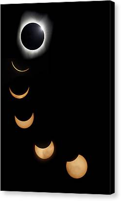 2017 Solar Eclipse Composite Canvas Print