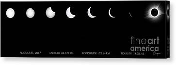 Totality Canvas Print - 2017 Solar Eclipse by Doug Sturgess