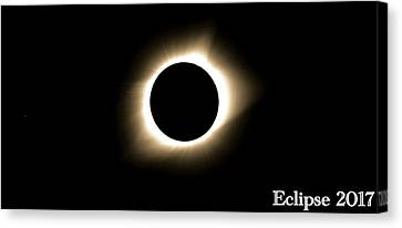 Totality Canvas Print - 2017 Total Solar Eclipse by Dan Sproul