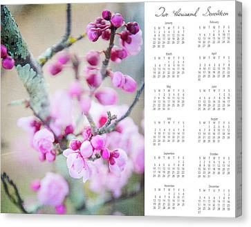 Canvas Print featuring the photograph 2017 Wall Calendar Cherry Blossoms by Ivy Ho