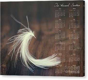Canvas Print featuring the photograph 2017 Wall Calendar Feather by Ivy Ho