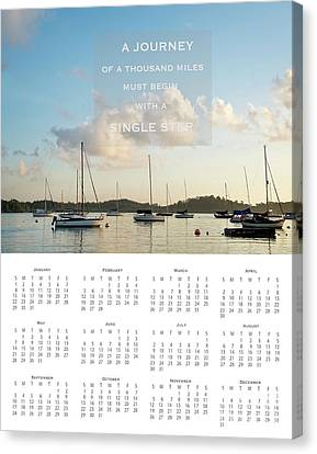 Canvas Print featuring the photograph 2017 Wall Calendar Journey by Ivy Ho