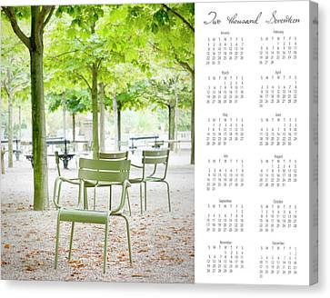 Canvas Print featuring the photograph 2017 Wall Calendar Paris by Ivy Ho
