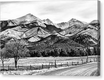 201702180-002k Road To Mountains 2x3 Canvas Print