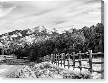 201702180-003k Log-fence-dirt-road 2x3 Canvas Print