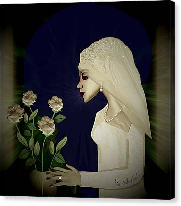 202 - Shy  Bride  2017 Canvas Print by Irmgard Schoendorf Welch