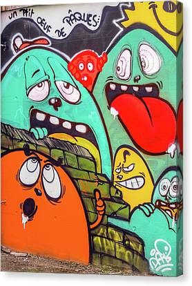 Graffiti Canvas Print by Muhie Kanawati