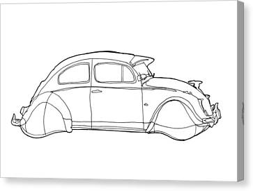 2069 Volkswagen Beetle Canvas Print by Nate Petterson