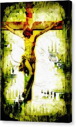 Savior Canvas Print - Jesus Christ - Religious Art by Elena Kosvincheva