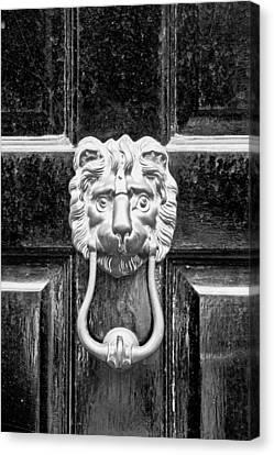 Medieval Entrance Canvas Print - Door Knocker by Tom Gowanlock