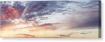 Summer Sky Canvas Print by Les Cunliffe