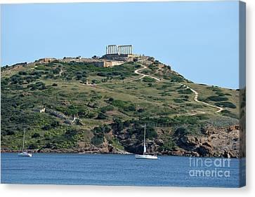 Ancient Canvas Print - Temple Of Poseidon by George Atsametakis
