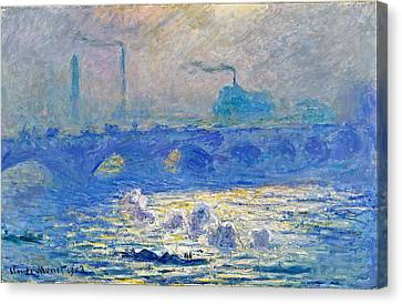Monet Canvas Print - Waterloo Bridge by Claude Monet