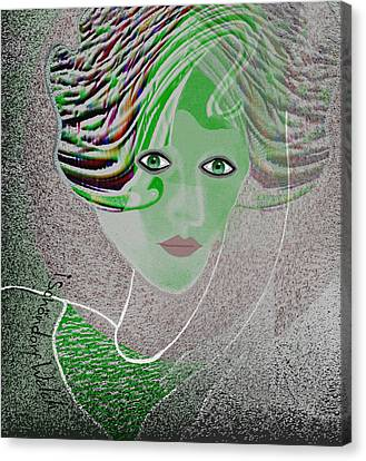 211 - An Elegant Model 2017  Canvas Print by Irmgard Schoendorf Welch