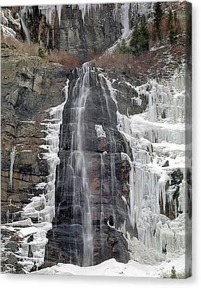 212m40 Bridal Veil Falls Utah Canvas Print