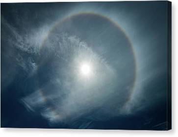 Canvas Print featuring the photograph 22 Degree Solar Halo by William Lee