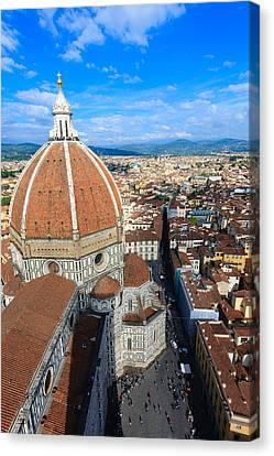 Cristian Church Canvas Print - Florence Panorama by Davide Guidolin