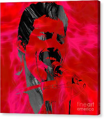 Rock And Roll Canvas Print - Freddie Mercury Queen Collection by Marvin Blaine