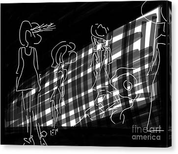 Dressing Room Canvas Print - 22 by Iuliia Zueva