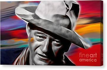 John Wayne Collection Canvas Print by Marvin Blaine