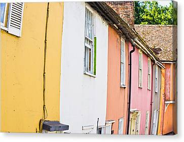 Town Houses Canvas Print by Tom Gowanlock