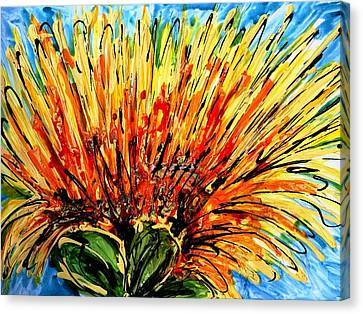 Heavenly Flowers Canvas Print by Baljit Chadha