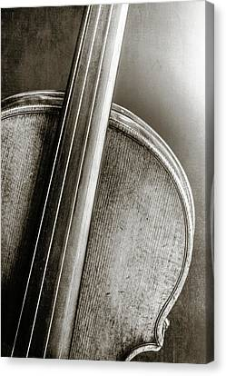229 .1841 Violin By Jean Baptiste Vuillaume Bw Canvas Print