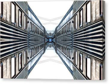 22nd Century Floating Cities A Gangway Canvas Print by Thomas Woolworth