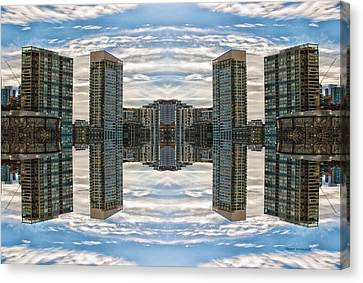 22nd Century Floating Cities Cluster Hub Canvas Print by Thomas Woolworth