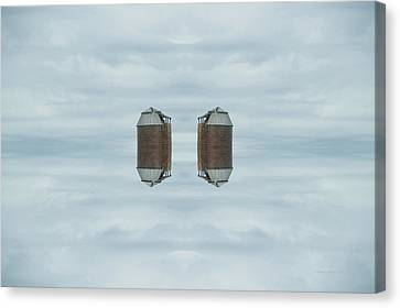 22nd Century Floating Cities Farming Silos Canvas Print by Thomas Woolworth