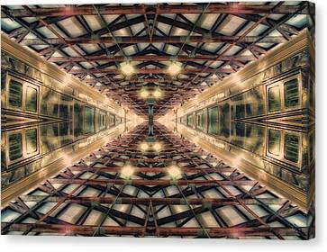 22nd Century Floating Cities Maintenance Shaft Canvas Print by Thomas Woolworth