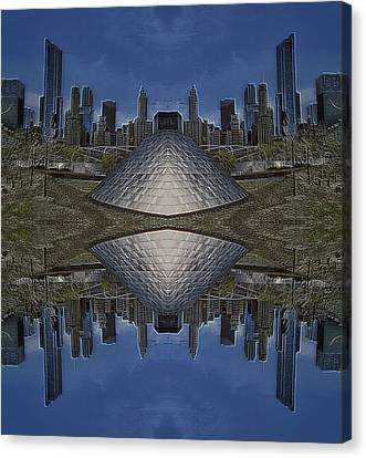 22nd Century Floating Cities Parkside Canvas Print by Thomas Woolworth